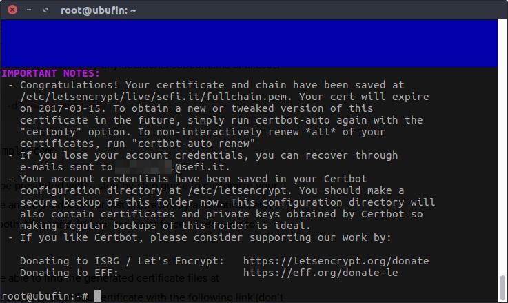 Lets_Encrypt certbot-auto